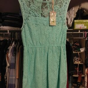 Chelsea & Violet Tuqouise Lace Dress